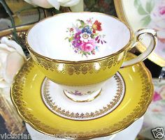 HAMMERSLEY TEA CUP AND SAUCER FLORAL*PAINTED*