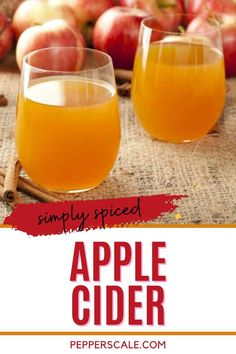 Spicy apple cider brings all of the complex tastes of the traditional cider and layers in a level of chili pepper heat (via cayenne pepper) that'll surprise and delight! It's a terrific treat for spicy food fans, and it's also a great way to tone down an overly-sweet pot of apple cider too. Vegan Gluten Free, Vegan Vegetarian, Cocktail Recipes, Cocktails, Spiced Apple Cider, Winter Drinks, Spicy Recipes, Stuffed Hot Peppers, Mixed Drinks