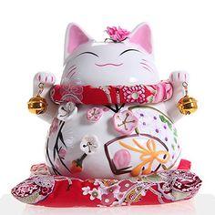 Maneki Neko - statue de chat japonais en porcelaine avec deux cloches - feng shui porte-bonheur et tirelire Goodwei http://www.amazon.fr/dp/B00ECGXGEU/ref=cm_sw_r_pi_dp_AGVDub09FVQPA