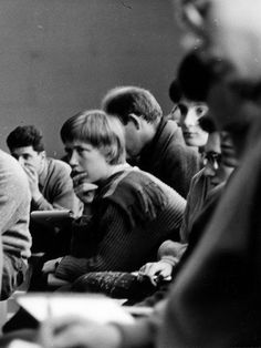 Hans G. Conrad: Students in class at the Ulm School of Design, 1956