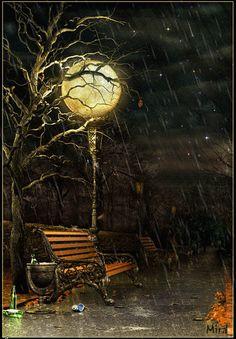 Дождливая ночь - Дождь анимация - Анимация - Галерея картинок и фото