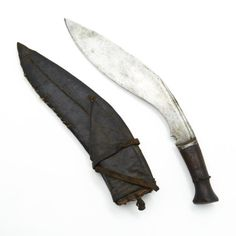 Antique Original Nepalese Gurkha Bhojpure Kukri Fighting Knife with Soft Leather Scabbard ** Find out more about the great product at the image link.