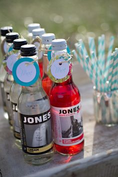 jones soda and stripy straws | White Dress Events