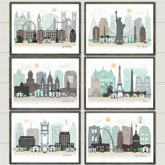 Lg. Cityscape Art Print