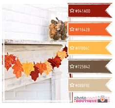 Fall color palette- replace the beige on the bottom with a deep forest green and this is perfect!