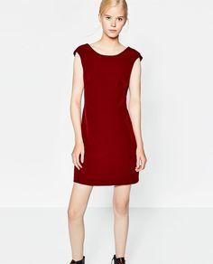 ZARA - TRF - STRAIGHT CUT DRESS WITH LOW-CUT BACK