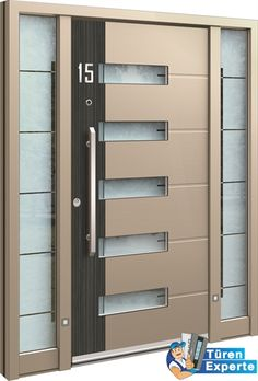 Haustüre AGE 1296 von Inotherm Modern Entry, Modern Front Door, Main Door Design, Front Door Design, Main Entrance Door, Entry Doors, Gate For Home, Dinning Chairs, Kitchen Doors
