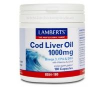 Lamberts Aceite De Higado De Bacalao 1000 Mg 180 Capsulas