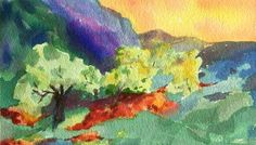 Sunset Meadow-Original Abstract by ARTEQUALSJOY on Etsy
