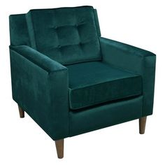 Love this teal velvet chair. From Target! Who knew?