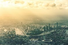'Little Brisbane' by Mikey Mackinven on Brisbane Airport, Brisbane Australia, High Quality Images, Airplane View, Skyscraper, Skyline, River, City, Outdoor