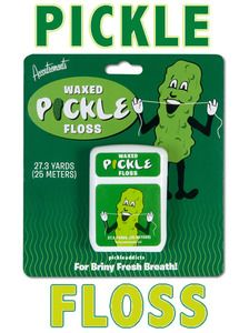Pickle Flavor Floss Dill Flavored Waxed Dental Floss
