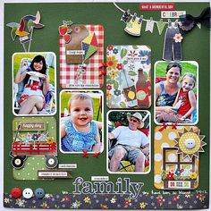 Love this page- it looks so fresh & fun- great for a picnic in the park or family reunion page.