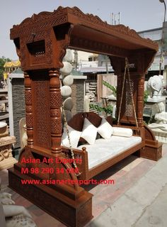 This product includes only a swing seat with cushion. Length of chains depend on height of ceiling. Normally it is smaller than ceiling height.