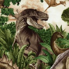 Dinosaurs - Green - Timeless Treasures