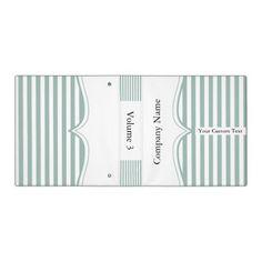 Classy Paloma Blue Stripes 3 Ring #Binders #corporate #business #zazzlebestie #zazzle