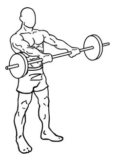 Front Barbell Raises 2