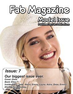 Fab Magazine Model Issue 7 full or gorgeous models from the Mid North Coast.  Studio: Fab Photos  Agency: Fab Models  Photographer: Steve Harris Models: Drew, Eliza, Talya, Jade, Alexis, Emmy, Layne, Astra, Emma, Kate, Rommley.