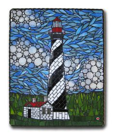 My first commissioned mosaic - St. Augustine Lighthouse by Cherie Bosela