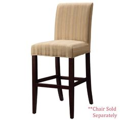 Powell Woven Taupe with Copper Gold and White Stripes Slip Over for Counter Stool or
