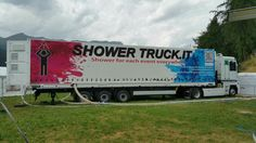 Shower truck Resia Trucks, Shower, Rain Shower Heads, Truck, Showers