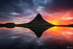 Iceland: The Land of the Midnight Sun | Tips for viewing the Midnight Sun on your trip to Iceland. Photo: Mount Kirkjufell, Iceland