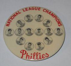 1950 Philadelphia Phillies Baseball Pin National League Champions Phillies Baseball, Baseball Cards, Sports Highlights, Pin Button, National League, Philadelphia Phillies, Champion, Mint, Posters