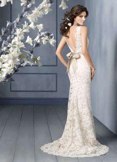 New White Ivory Lace Wedding Dress Gown Custom #wedding dress www.loveitsomuch.com