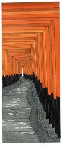 Teruhide Kato, 加藤晃秀, 木版画