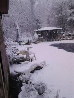 Clover, South Carolina pool in Winter