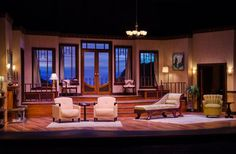 A bit of what their apartment resembles: small yet cozy and simple furniture Set Design Theatre, Prop Design, Stage Design, Agatha Christie, Then There Were None, Stage Set, Stage Play, Mood Light, Design Research
