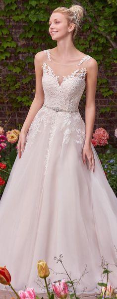 Wedding Dress by Rebecca Ingram | @maggiesottero #rebeccaingram #rebeccabride