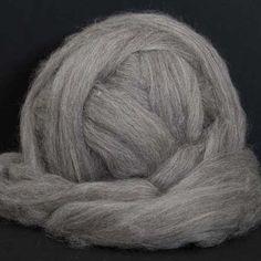 Grey Shetland Wool Top and Roving