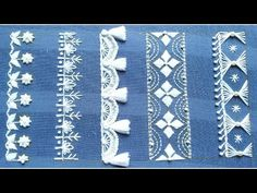 "Dear friend, today i have shown you a new ""Fabulous Hand Embroidery,Fantastic Hand Embroidery border design,border embroide. Embroidery Online, Hand Embroidery Videos, Hand Embroidery Flowers, Embroidery Stitches Tutorial, Learn Embroidery, White Embroidery, Embroidery Techniques, Ribbon Embroidery, Bordados E Cia"