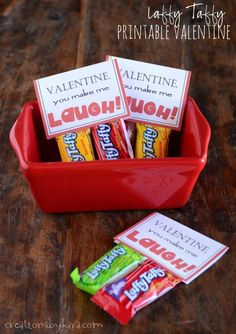 Add some Laffy Taffy to this free printable Valentines Day card, and you have a perfect classroom Valentine!