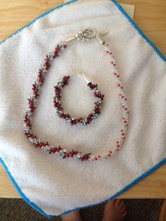 Necklace to compliment the Holly Jolly Berry Bracelet....by Mary