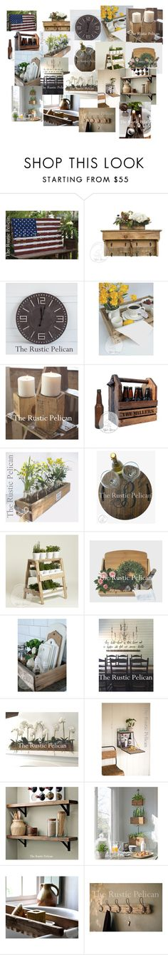 """""""My All American Rustic Farmhouse"""" by beachdawn ❤ liked on Polyvore featuring interior, interiors, interior design, home, home decor, interior decorating, Rustico and rustic"""