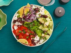 Easy Greek Salad recipe from Ree Drummond via Food Network