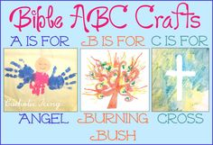Bible Alphabet Crafts (maybe better for 3 or 4 year, but I'm not on that board yet)