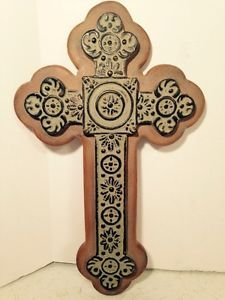 "Cross Wall Hanging cross: cast iron wall hanging decorative crucifix 10"" x 7 1/4"