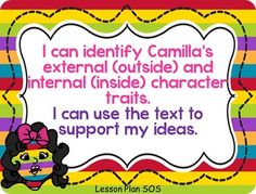 Common Core with Camilla Cream Character Traits FREEBIE :)
