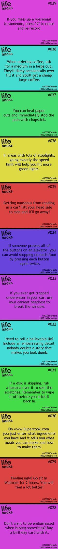 25 Useful Life Hacks