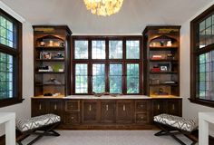 Traditional Home Office photo by Clean Design Partners