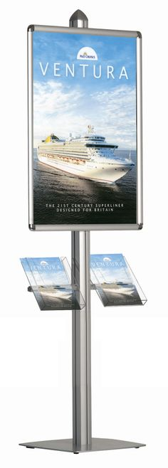multifunctional Dynamic Poster Display ideal for instore POS and showrooms Brochure Stand, Brochure Display, Brochure Holders, Poster Display, Pop Display, Travel Brochure, Visual Display, Display Design, Display Stands
