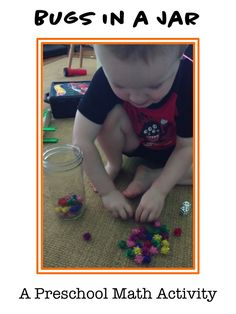 Bugs in a Jar. Preschool Math Learning Activity that includes algebraic thinking, addition, fine motor practice, and counting. Such a fun, hands-on activity for toddlers and preschoolers.