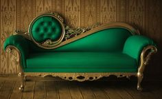 Great Vintage Green Sofa