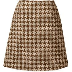 Houndstooth Wool Mini Skirt