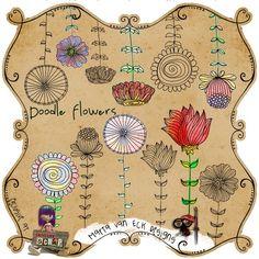 Doodle flowers... LOVE!