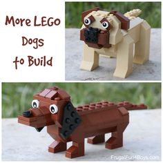 More LEGO Dogs! Dachshund and Mastiff Building Instructions More lego dogs FB Lego Design, Lego Dog, Lego Animals, Lego Club, Lego Activities, Lego Craft, Lego For Kids, Pug, Dachshund