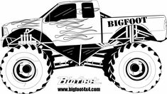 how to draw monster truck   BIGFOOT Kids - The Place for Little Monster Truck Fan
